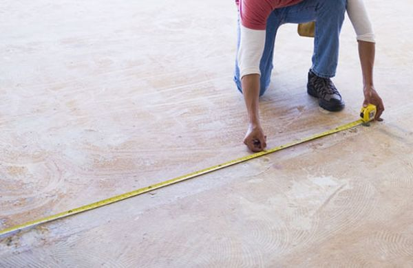 Measure the room for carpet fitting