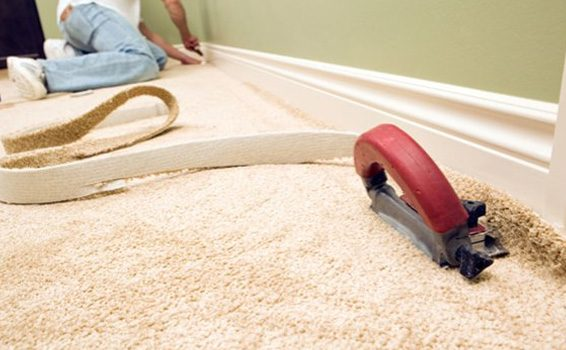 Trim the edges of the carpet