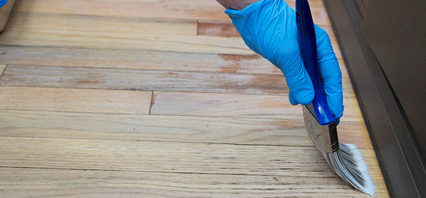 Finishing Sanding a Wooden Floor